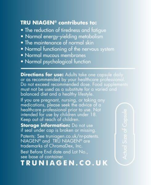 TRU NIAGEN Label